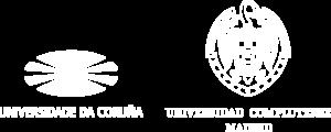 Logos de la Universidade da Coruña y de la Universidad Complutense de Madrid